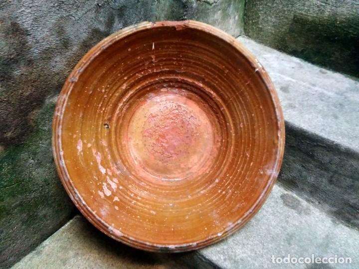 ANTIQUÍSIMO Y ENORME LEBRILLO VIDRIADO DE ÚBEDA Ó BAILÉN ( JAÉN ) LAÑADO DE ÉPOCA - CON MUCHO SABOR (Antigüedades - Porcelanas y Cerámicas - Úbeda)
