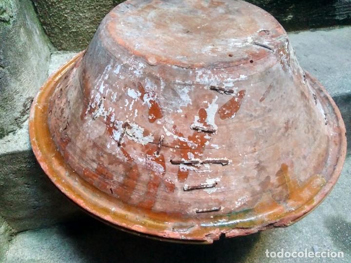 Antigüedades: ANTIQUÍSIMO Y ENORME LEBRILLO VIDRIADO DE ÚBEDA Ó BAILÉN ( JAÉN ) LAÑADO DE ÉPOCA - CON MUCHO SABOR - Foto 2 - 224455195