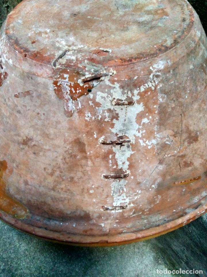 Antigüedades: ANTIQUÍSIMO Y ENORME LEBRILLO VIDRIADO DE ÚBEDA Ó BAILÉN ( JAÉN ) LAÑADO DE ÉPOCA - CON MUCHO SABOR - Foto 4 - 224455195