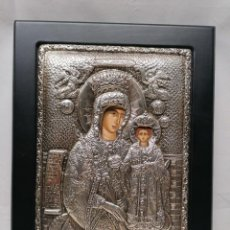 Antigüedades: ANTIGUA ICONOGRAFIA LABRADA EN PLATA 925. Lote 224455525