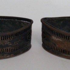 Antigüedades: ESPECIALES JARDINERAS DE MESA GEORGIANAS O CARLOS IV EN COBRE PATEADO. HECHAS A MANO. SIGLO XVIII. I. Lote 224459730