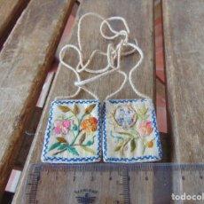 Antigüedades: ANTIGUOS Y BONITO ESCAPULARIO VIRGEN DEL CARMEN. Lote 224479105