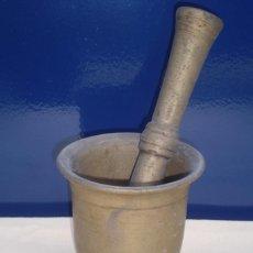 Antigüedades: ESPECTACULAR ALMIREZ O MORTERO GIGANTE SIGLO XIX, MUY PESADO. Lote 224504538
