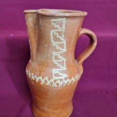 Antigüedades: MAGNIFICO JARRO DE AGUA O VINO EN CERAMICA DE UBEDA,(JAEN),S. XIX-XX. Lote 224506448