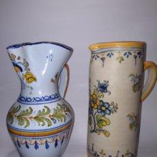 Antigüedades: JARRAS DE CERAMICA DE TALAVERA. Lote 224517520