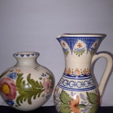 Antigüedades: JARRA DE CERAMICA Y JARRON. Lote 224519205