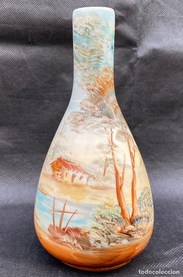 RAMGI. JARRÓN CERÁMICA DE MANISES RAMGI (Antigüedades - Porcelanas y Cerámicas - Manises)