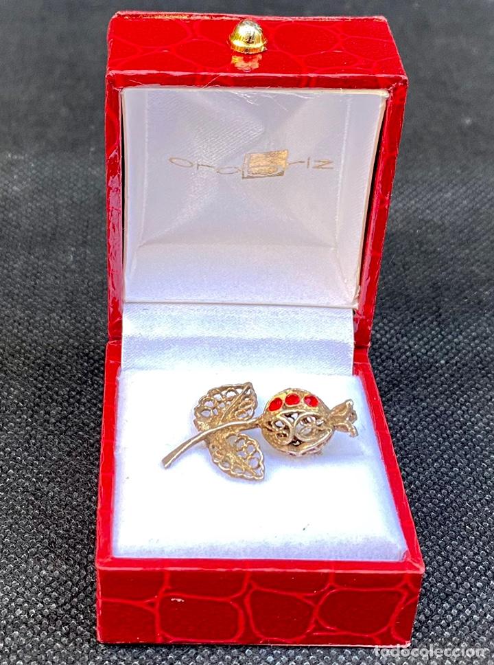 Antigüedades: Broche de plata de filigrana antiguo - Foto 2 - 224555612