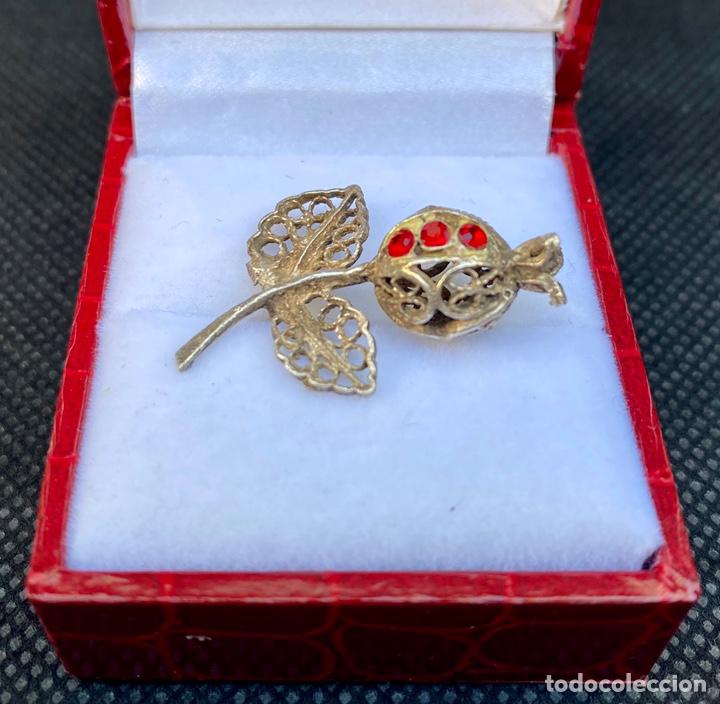 Antigüedades: Broche de plata de filigrana antiguo - Foto 3 - 224555612