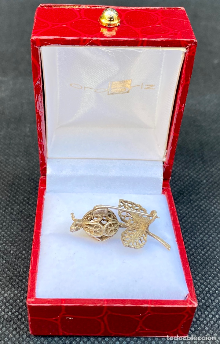 Antigüedades: Broche de plata de filigrana antiguo - Foto 4 - 224555612