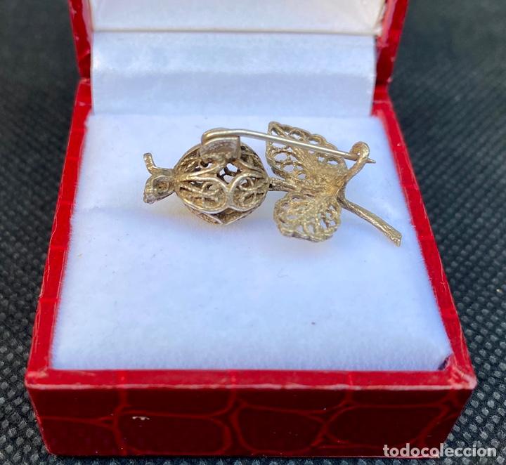 Antigüedades: Broche de plata de filigrana antiguo - Foto 5 - 224555612