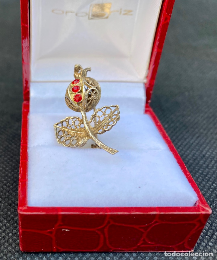 Antigüedades: Broche de plata de filigrana antiguo - Foto 7 - 224555612