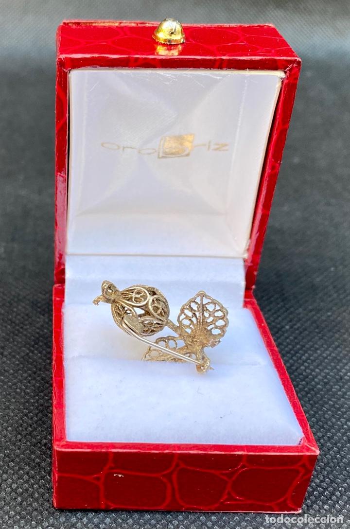 Antigüedades: Broche de plata de filigrana antiguo - Foto 8 - 224555612