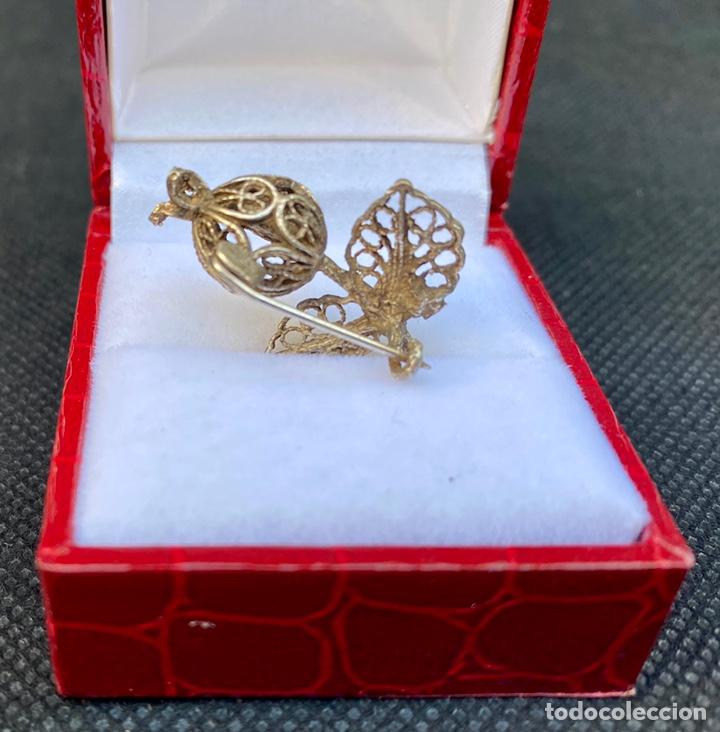 Antigüedades: Broche de plata de filigrana antiguo - Foto 9 - 224555612