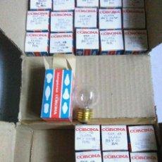 Oggetti Antichi: LOTE LAMPARAS CORONA ESFERICA 45 CLARA 24V 25W R/N. NUEVAS A ESTRENAR. BOMBILLAS. Lote 224613837