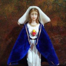 Antigüedades: FIGURA DE LA VIRGEN MARIA SAGRADO CORAZON. Lote 224620541