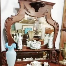 Antigüedades: ANTIGUO MUEBLE INGLES EN MADERA DE CAOBA, RESTAURADO. Lote 224668655