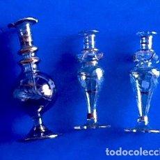 Antigüedades: FRASCOS DE CRISTAL. PERFUMEROS? ENVIO CERTIFICADO INCLUIDO EN EL PRECIO.. Lote 224702352