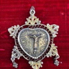 Antiquités: RELICARIO EN FORMA DE CORAZÓN. Lote 224717461