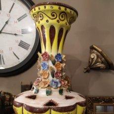 Antigüedades: LAMPARA GIGANTE MANISES FLORES. Lote 224724953