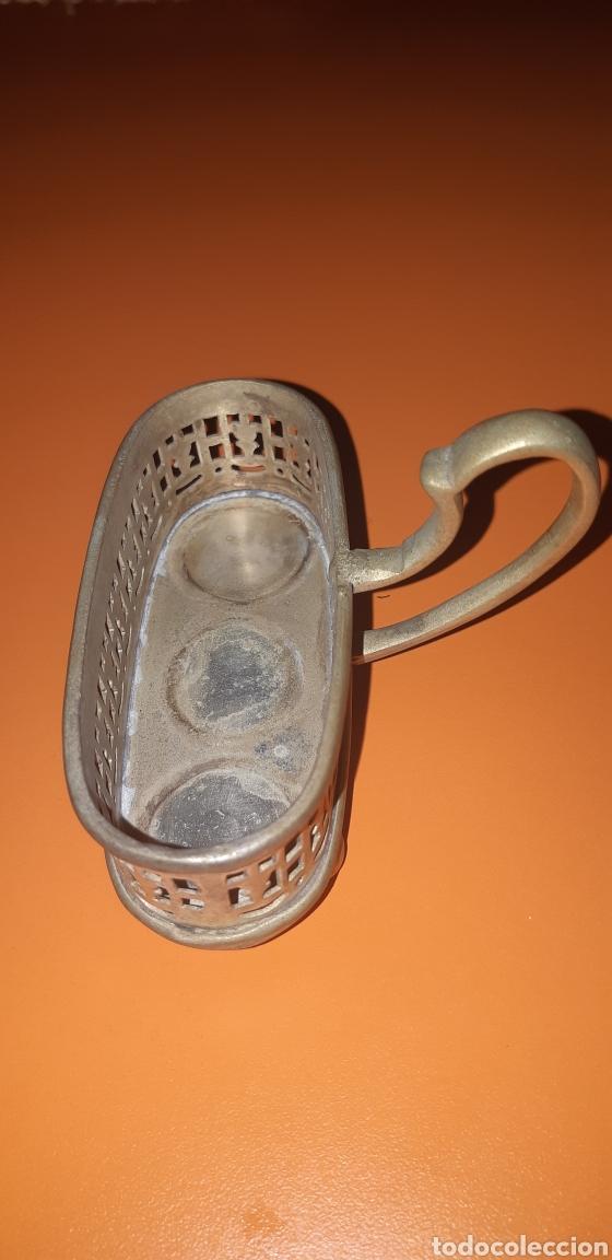 Antigüedades: Pequeño combo de sal, pimienta y mostaza años 40 inglés - Foto 6 - 224727696
