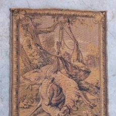 Antigüedades: TAPIZ ANTIGUO- ALEGORIA DE LA CAZA. Lote 224774627