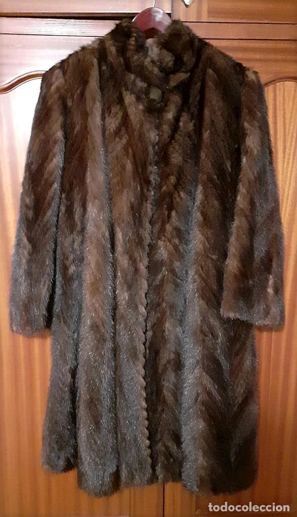 Antigüedades: Abrigo largo de lomos de visón auténtico - Foto 2 - 224775343