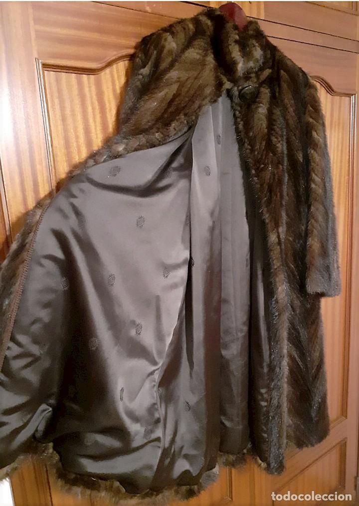 Antigüedades: Abrigo largo de lomos de visón auténtico - Foto 3 - 224775343