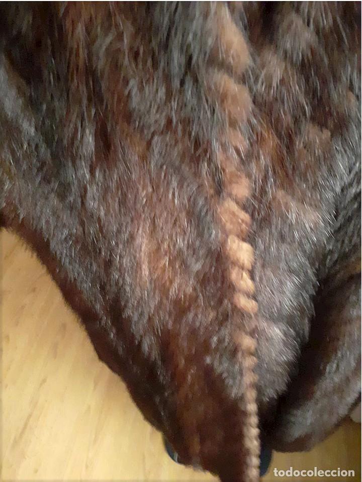 Antigüedades: Abrigo largo de lomos de visón auténtico - Foto 4 - 224775343