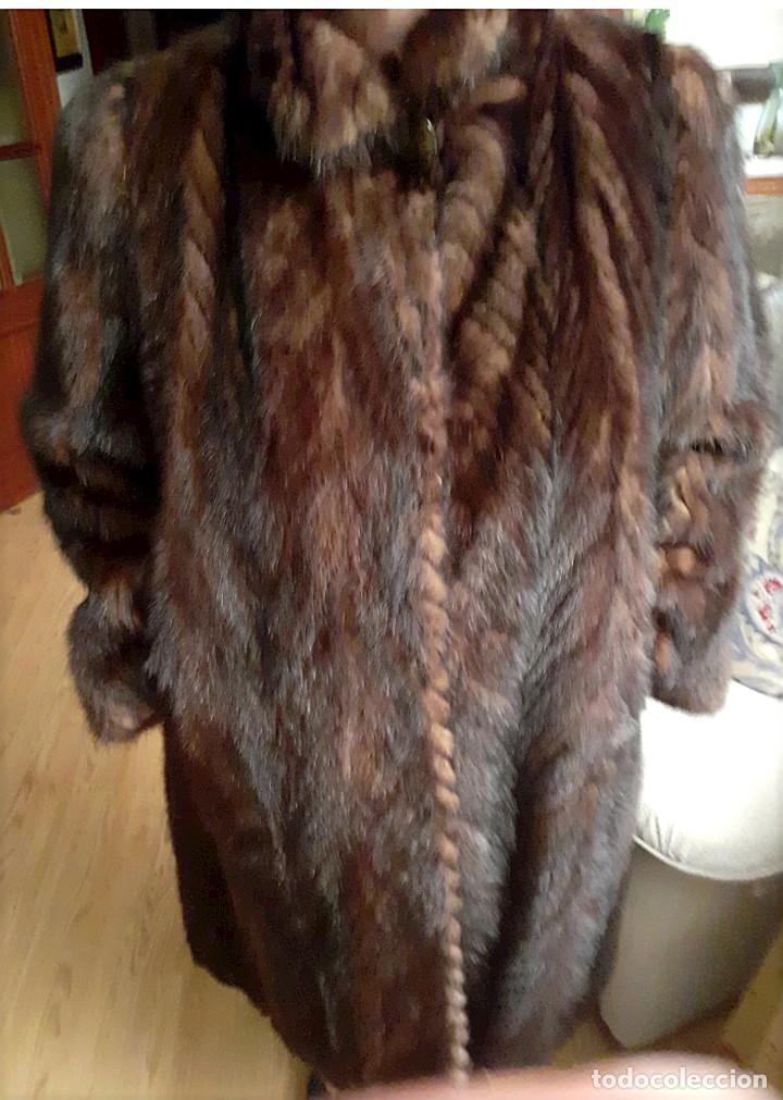 Antigüedades: Abrigo largo de lomos de visón auténtico - Foto 5 - 224775343