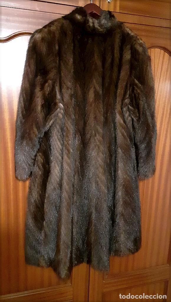 Antigüedades: Abrigo largo de lomos de visón auténtico - Foto 9 - 224775343