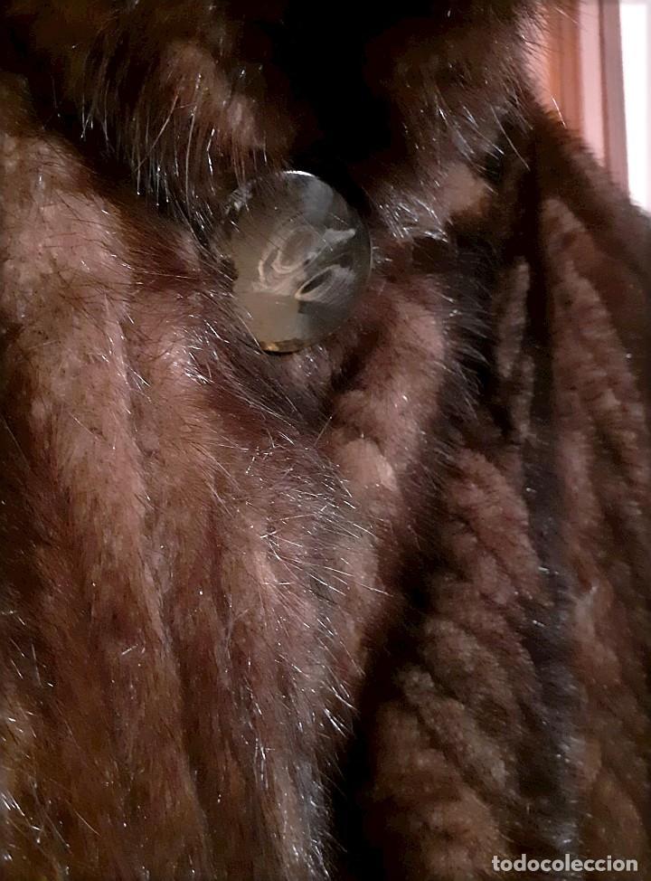 Antigüedades: Abrigo largo de lomos de visón auténtico - Foto 11 - 224775343