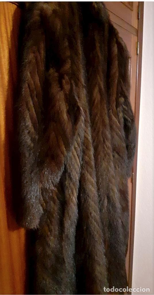 Antigüedades: Abrigo largo de lomos de visón auténtico - Foto 12 - 224775343