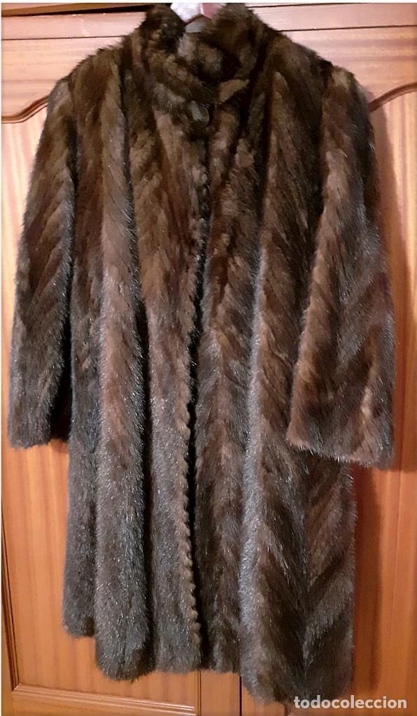 Antigüedades: Abrigo largo de lomos de visón auténtico - Foto 13 - 224775343
