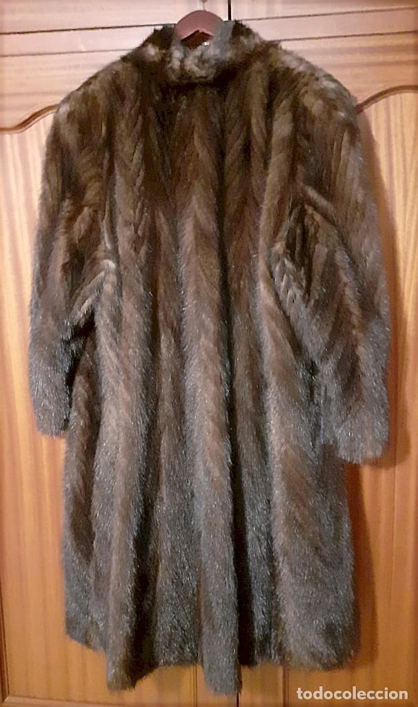 Antigüedades: Abrigo largo de lomos de visón auténtico - Foto 14 - 224775343