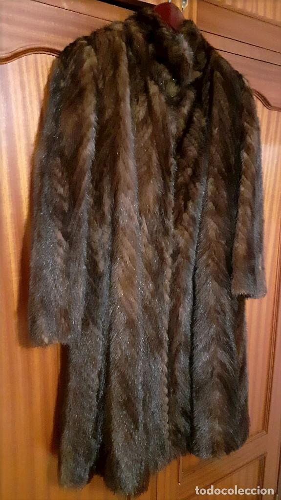 Antigüedades: Abrigo largo de lomos de visón auténtico - Foto 15 - 224775343
