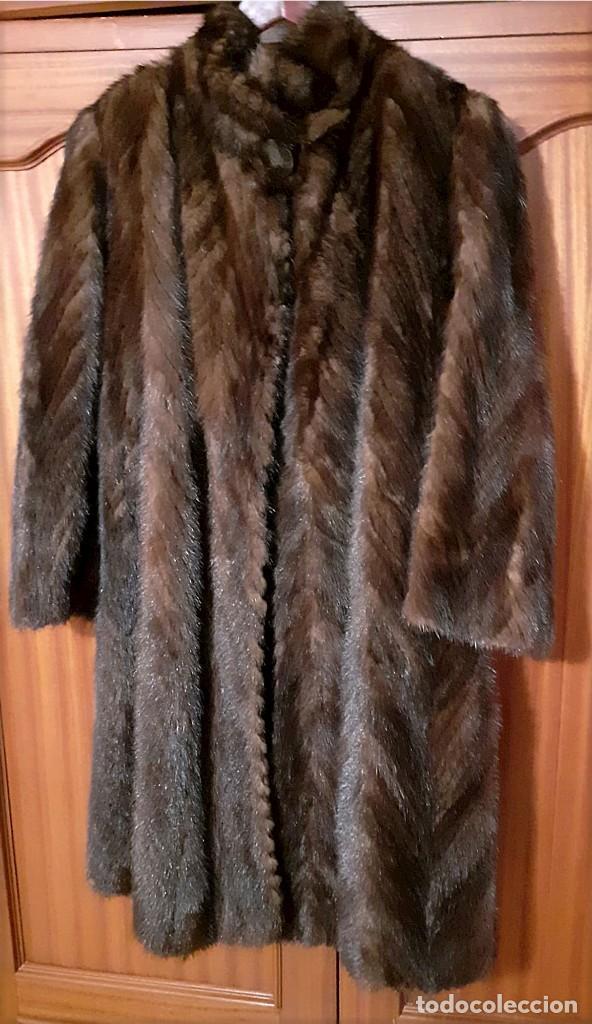 Antigüedades: Abrigo largo de lomos de visón auténtico - Foto 16 - 224775343