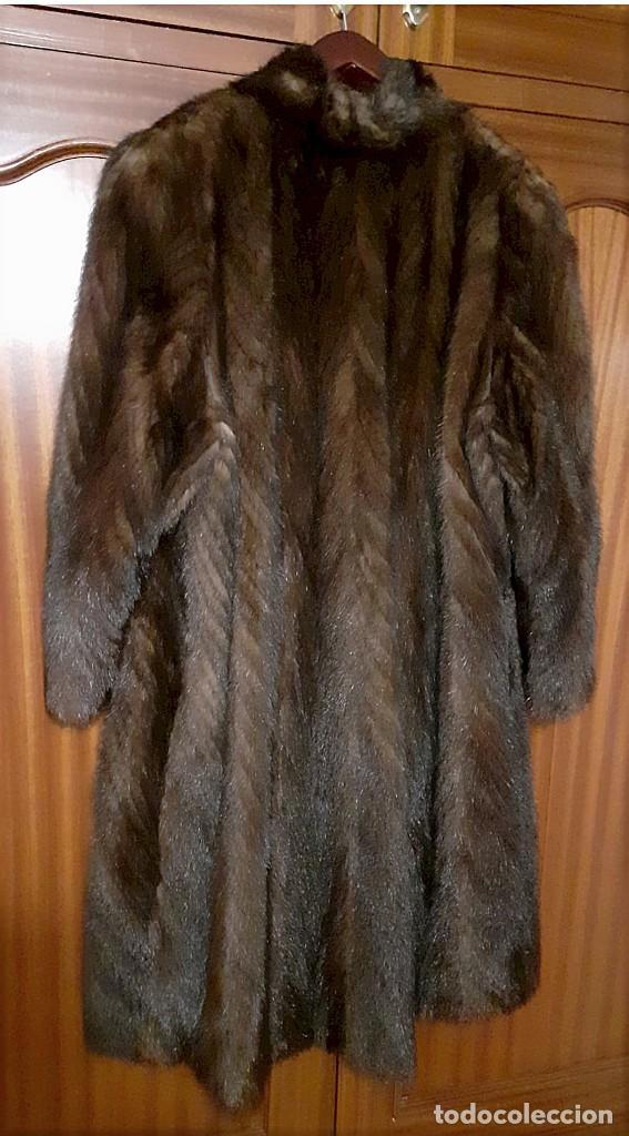 Antigüedades: Abrigo largo de lomos de visón auténtico - Foto 17 - 224775343