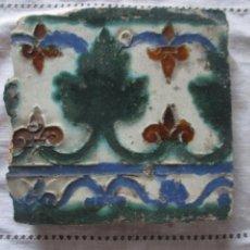 Antigüedades: AZULEJO TOLEDO SIGLO XVI. Lote 224782726