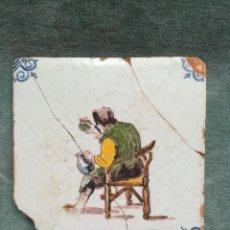 Antigüedades: ANTIGUO AZULEJO DE OFICIOS - VINO. Lote 224812350