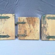 Antiquités: LOTE DE 3 HOJAS ANTIGUAS DE VENTANO O FRAILERO. Lote 224816006