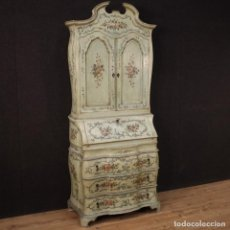 Antigüedades: TRUMEAU VENECIANO EN MADERA LACADA Y PINTADA. Lote 224834558