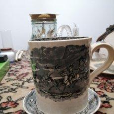 Antiquités: JARRA Y CLARO PEQUEÑO CERÁMICA LA AMISTAD CARTAGENA. Lote 224835035
