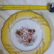 Antigüedades: PLATO DE QUERUBINES FRANCES. Lote 224843982
