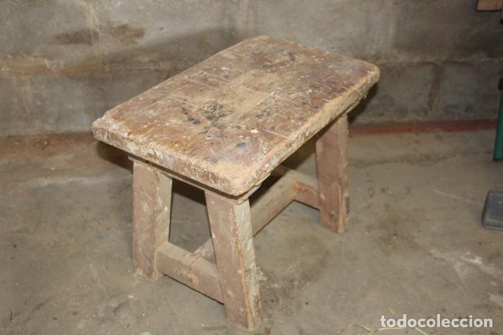 TABURETE CARPINTERO (Antigüedades - Muebles Antiguos - Auxiliares Antiguos)