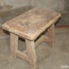 Antiguidades: TABURETE CARPINTERO. Lote 224856696