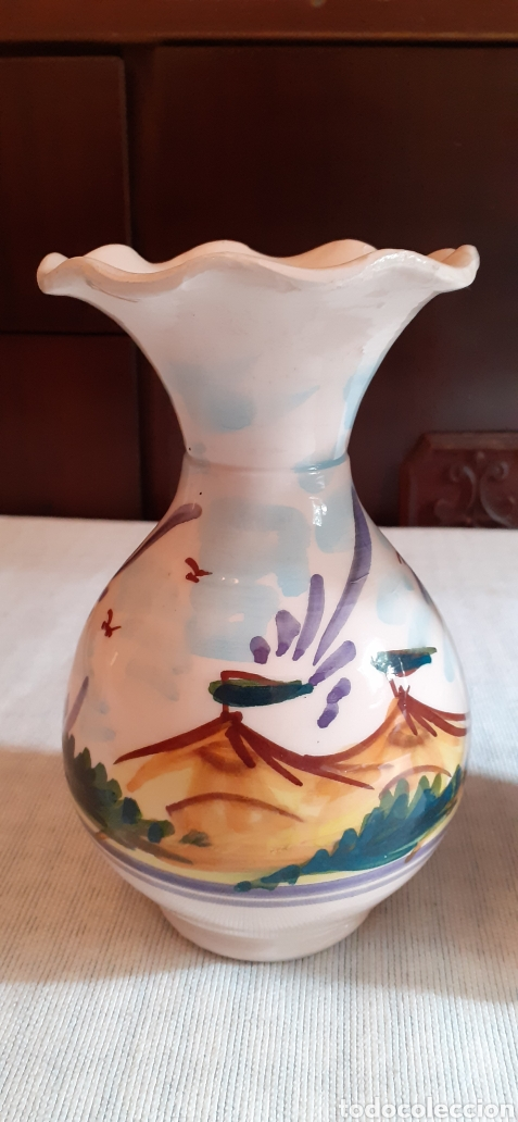 Antigüedades: Pareja de jarrones , 16 cm , Triana - Foto 2 - 224860320