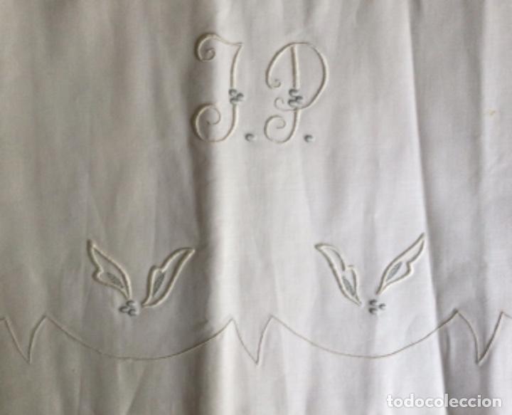 Antigüedades: ANTIGUA SABANA BORDADAS A MANO CON FUNDA A JUEGO, CAMA 135 - Foto 17 - 224865543