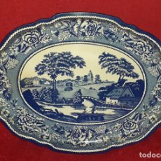 Antigüedades: BANDEJA DE METAL ESMALTADO - MADE IN ENGLAND -. Lote 224919035