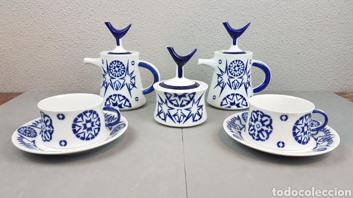JUEGO DESAYUNO, TU Y YO, CAFE, TÉ, 2 SERVICIOS TOXO PORCELANA SARGADELOS. DESCATALOGADO. (Antigüedades - Porcelanas y Cerámicas - Sargadelos)